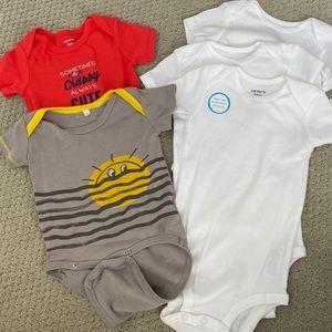 Bundle of five 12 month Short sleeve Onesies